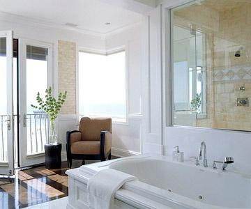 A Refined OasisBathroom Design, Decor Ideas, Bathroom Features, Beach House, The Ocean, Open Bathroom, Dreams Bathroom, Elegant Bathroom, Gardens Dreams