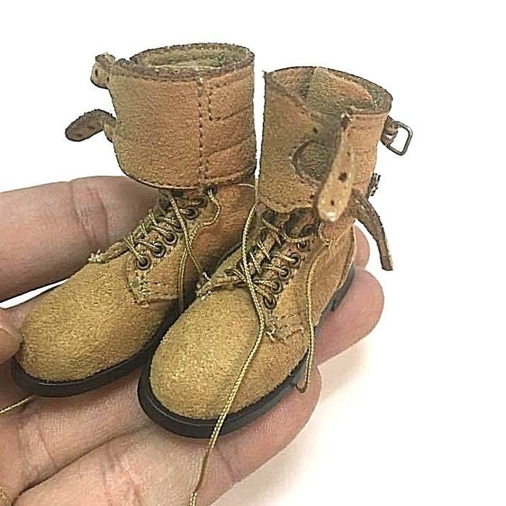 """1/6 Scale Soldier Story 2nd INFANTRY DIVISION Paratrooper Boots for 12"""" figure #SoldierStory"""