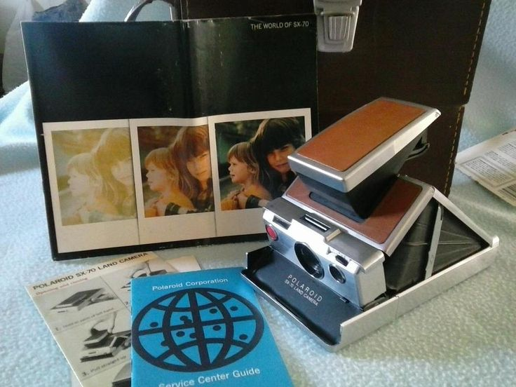 $50 auction Polaroid SX 70 Camera for Repair or Parts Vintage w Leather Case & Manual #Polaroid