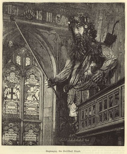 Gogmagog, the Guildhall Giant. Illustration for Chatterbox, c 1905.