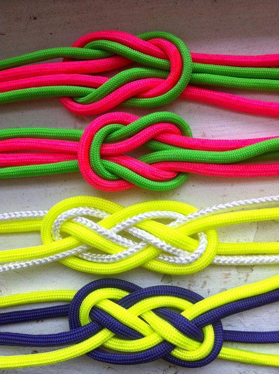 Neon Nautical Sailor Knot Bracelet