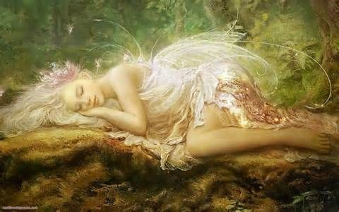 Painting-fairy--original.Sleep Beautiful, Art, Faeries, Sweets Dreams, So Pretty, Naps Time, Elves, Sleep Fairies, Fairies Tales