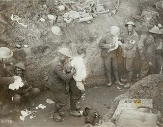 Shell shocked soldier in a trench during the Battle of Flers-Courcelette during the Somme Offensive. (1916) [1600 x 1252] : HistoryPorn
