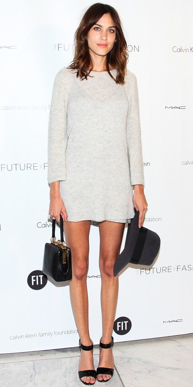 Alexa Chung in Calvin Klein - love this look.