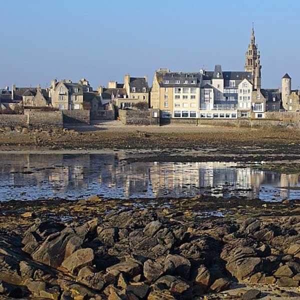 Roscoff vue depuis l'estran | Finistère | Bretagne | #myfinistere