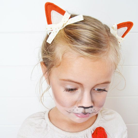 Fox Costume Fox Ears Hair Clips for Fox Halloween Costumes Dress Up