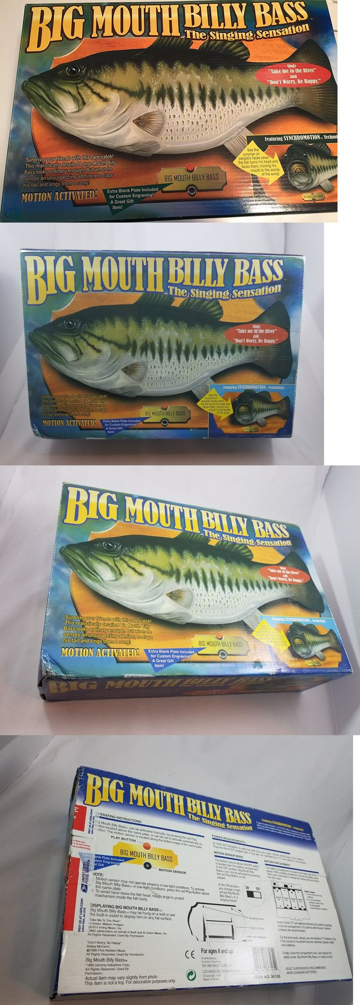 Novelties and Gifts 62143: Big Mouth Billy Bass Singing Fish Tested Works Great!! Gemmy With Box With Easel -> BUY IT NOW ONLY: $59.99 on eBay!
