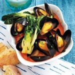 Thai Curry Mussels With Bok Choy