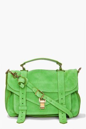sweet green messenger bag