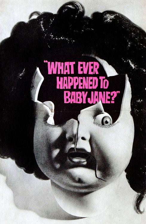 Robert Aldrich's 'Whatever Happened to Baby Jane?' (1962) - Vintage Poster Art.