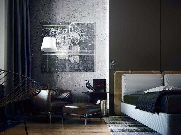 Contemporary apartment | Kiev KO+KO by KO+KO architects , via Behance