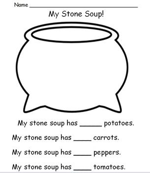 Stone Soup Activities. Great site to find lots of educational downloads for PreK, Kindergarten and 1st grade:)
