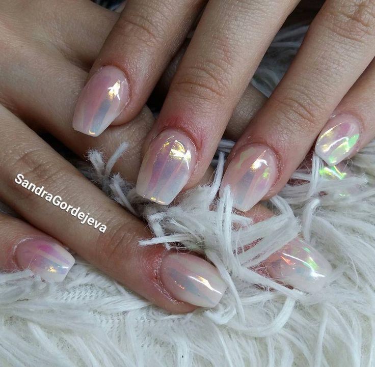 acrylic nails ombre nail broken mirror nails