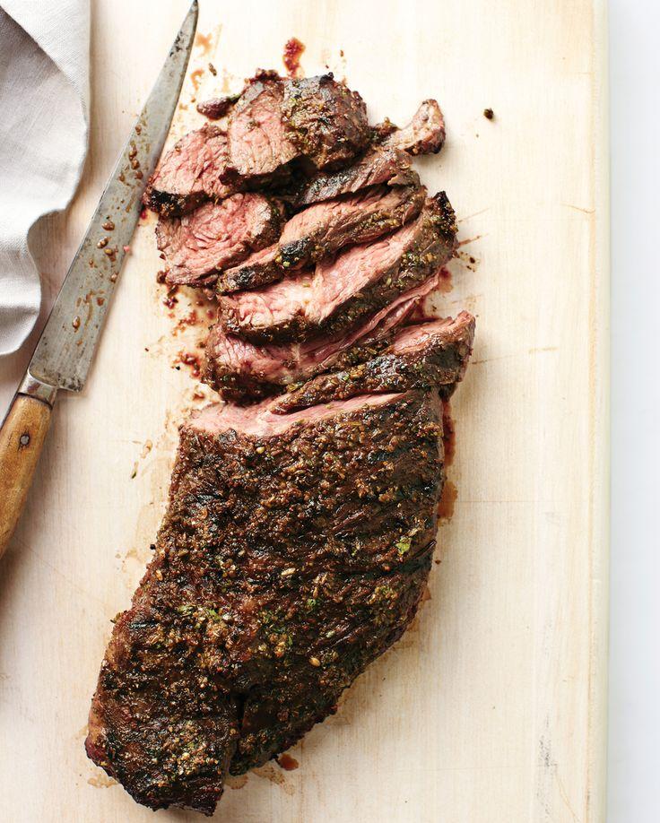 Spice-Crusted Grilled Hanger Steak Recipe   Martha Stewart