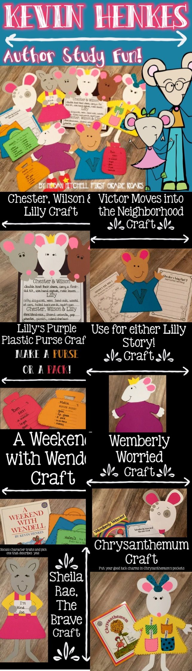 This unit is perfect for the beginning of the school year or any time of year.  His books teach children about character traits, kindness, and sharing.  Fun crafts, literature connection, writing and more for each story.  Perfect for first and second grade.