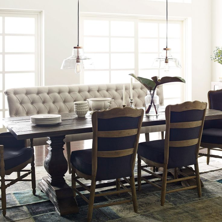 The Grand Silhouette Of Elan Braxton Banquette Presents A Stunning Effect In Elegant Dining Rooms