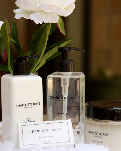 Charlotte Rhys Set – Includes a full size hand and body lotion 300ml, Shower gel 300ml, Salt Scrub 420g for R264 and you get a mini soap worth R39 free.  Choose from fragrances = Spring Flower, Rose, Under the Leaves or St Thomas