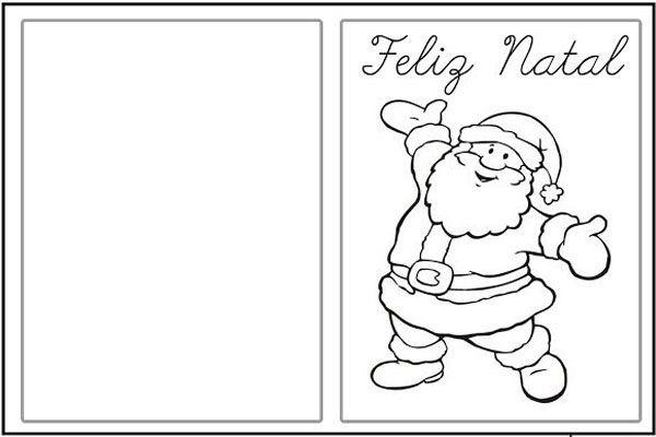 Cartao De Natal Para Imprimir E Colorir Modelos Criativos Papai