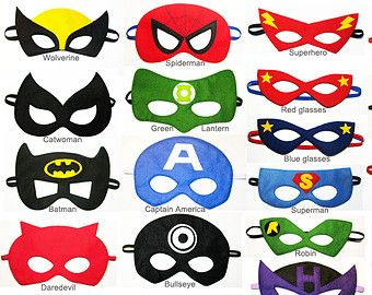 20 Filz Superhero Masken party Pack für Kinder - SIE wählen STYLES - Dress Up Spielen Kostüm Zubehör - Geburtstagsgeschenk für Boys Girls - Großhandel