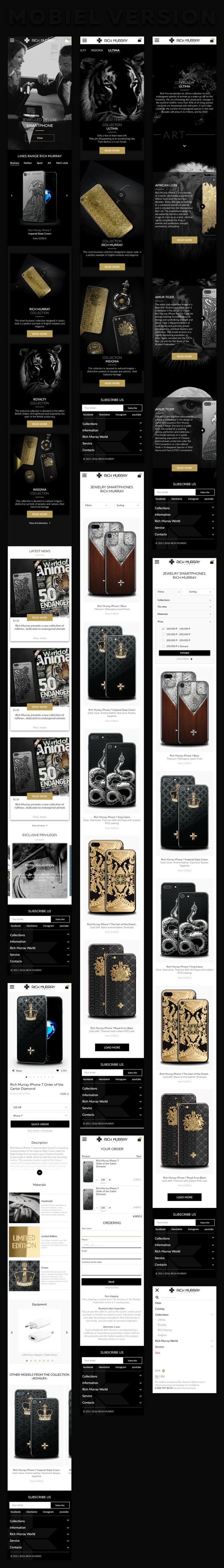Rich Murray is an international company, manufacturer of luxury jewelry and accessories. The company is engaged in the upgrade of the iphone of the latest generation, and receives a precious jewelry iphone. Simple and recognizable Identity was developed …