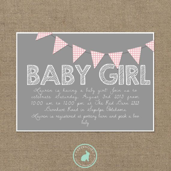 baby girl baby shower invitation diy printables