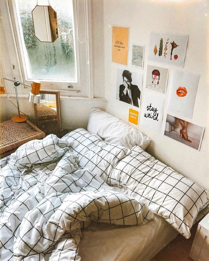 can't get out of bed today Aesthetic bedroom, Dorm room