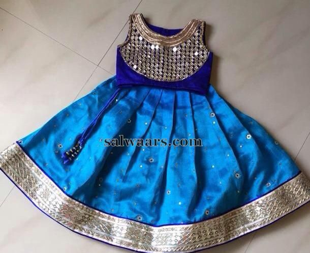 Mirror Blouse Kids Lehenga - Indian Dresses