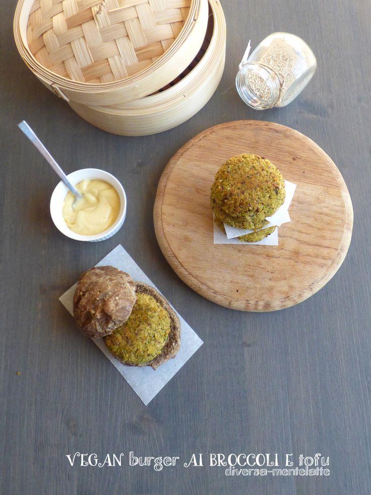 #vegan burger ai broccol e #tofu