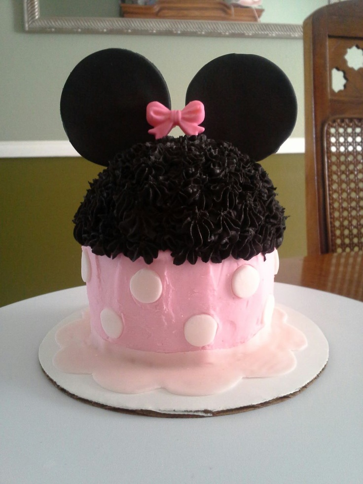 Minnie Mouse Smash cake | Kara's 1st bday party ideas ...