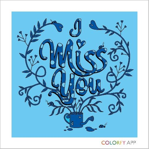 #colorfy #miss you I am so blue