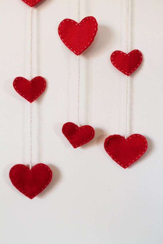 Heart Felt Wall Hanging by TinyHappyBee on Etsy