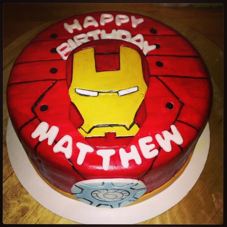 Iron Man Birthday Cake Design : Ironman cake Cakesbylulas Pinterest Ironman cake and ...