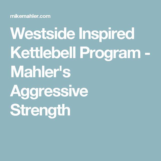 Westside Inspired Kettlebell Program - Mahler's Aggressive Strength