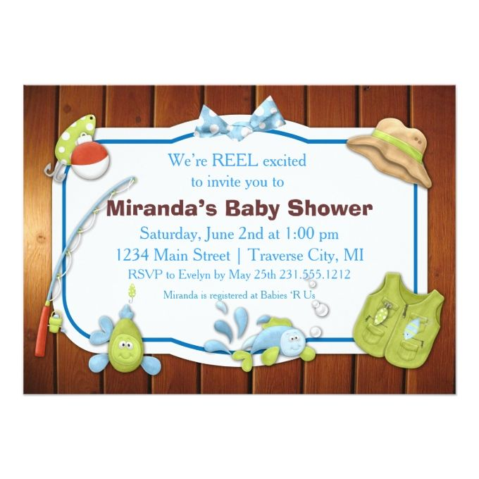 1000 ideas about fishing baby showers on pinterest fish for Fishing baby shower invitations