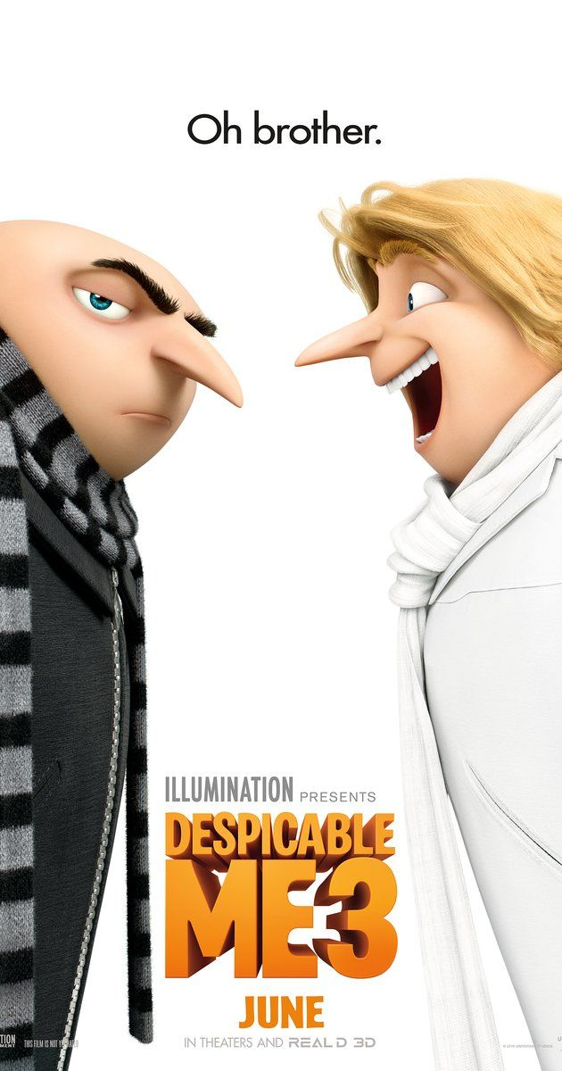 Directed by Kyle Balda, Pierre Coffin, Eric Guillon.  With Jenny Slate, Kristen Wiig, Steve Carell, Miranda Cosgrove. Gru meets his long-lost charming, cheerful, and more successful twin brother Dru who wants to team up with him for one last criminal heist.
