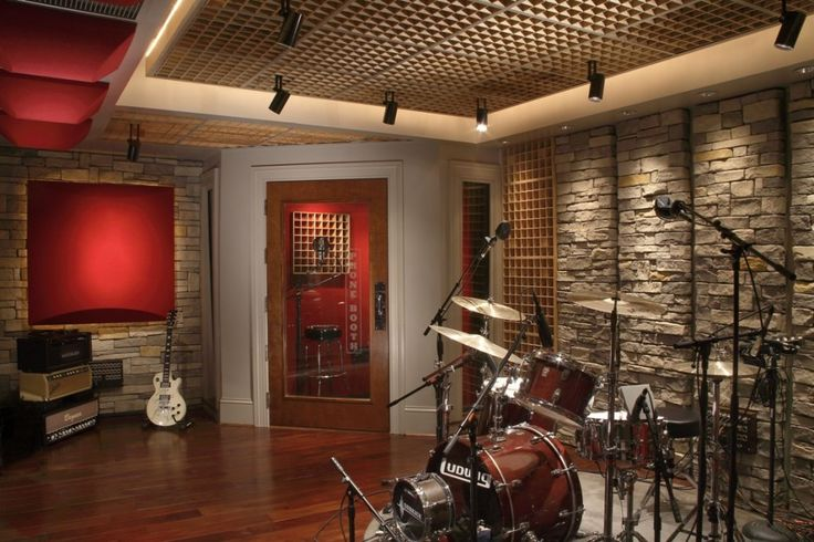 Want interior creative music room decorating ideas with stone wall cool music room decorating - Home recording studio design ideas ...