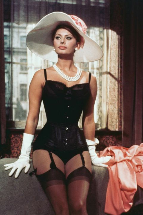From the days of vivacious pinup girls to Old Hollywood icons à la Marilyn Monroe and Elizabeth Taylor, an hourglass physique has always made for stars. We look back at all the celebrity women over the years best known for their incredible curves: Sophia Loren.