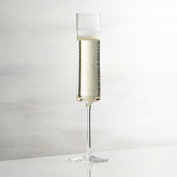 Edge Champagne Glass as a decorative accessory with foliage