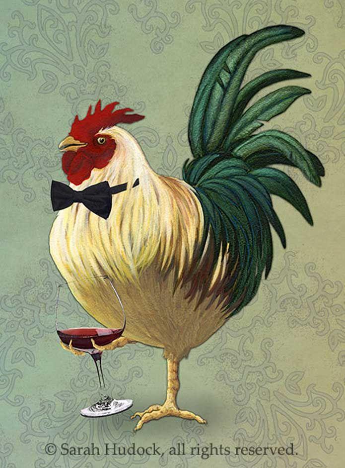 FOR JAY Friendship Card: Classy Roo | Chicken Art