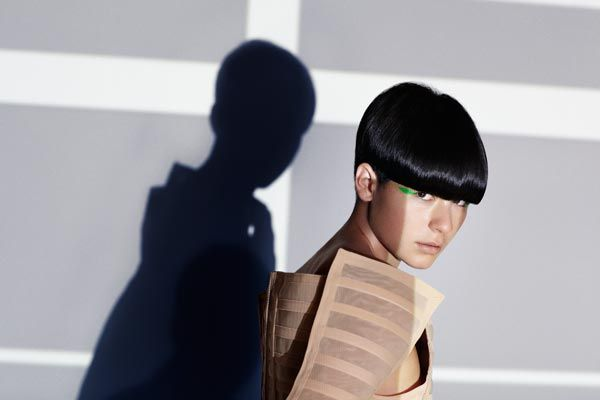 www.estetica.it Hair: Saco Creative Team led by Richard Ashforth Photo: David Oldham Make-up: Maxine Leonard Clothing: Serena Gill