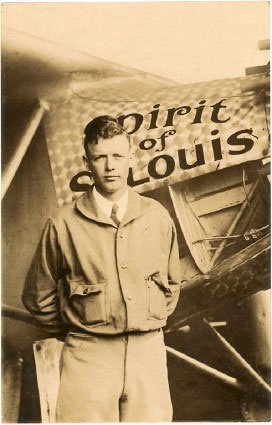 "In 1927, a group of St. Louis businessmen gave financial backing to the first solo transatlantic flight from New York to Paris. The pilot was Charles Lindbergh and the plane was named ""The Spirit of St. Louis."" www.stlarchs.org"