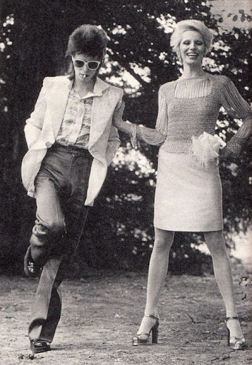 David and Angie Bowie.