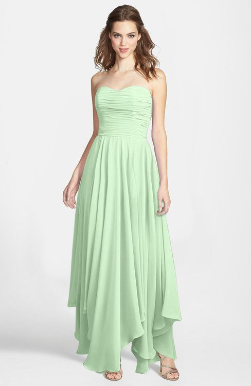 Light Green Gorgeous Princess Sweetheart Sleeveless Asymmetric Bridesmaid Dresses