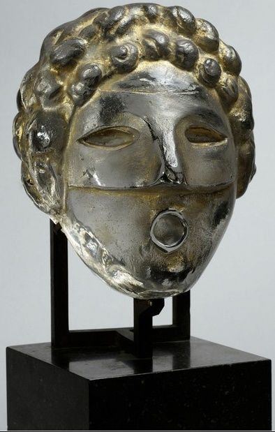 Henri Navarre: Mask for a fountain, cast and modeled glass, ca. 1937