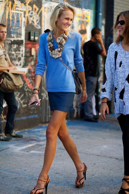Monochromatic: Fashion, Marykate, Style Inspiration, Blue, Street Style, Dress, Kate Steinmiller, Mary Kate