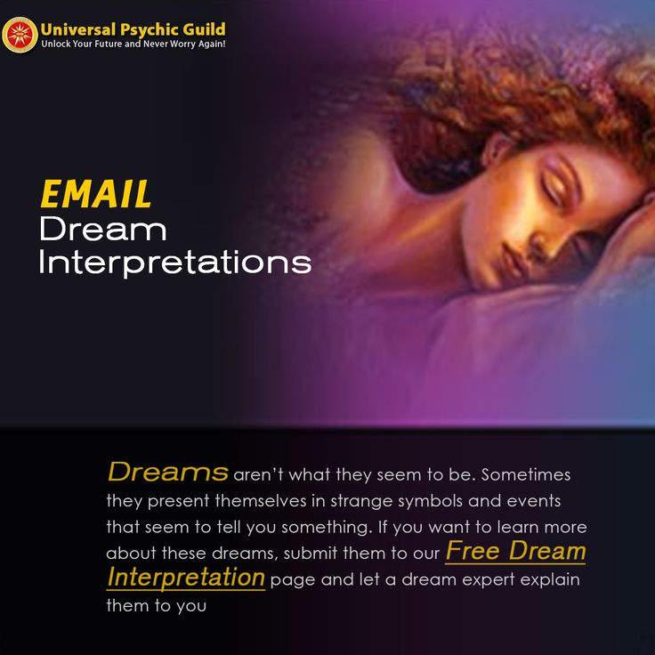 85 best dream interpretation meaning images on pinterest dream here we uncover the true meanings of your dreams each week universal psychic guild will interpret a select number of your dreams malvernweather Images
