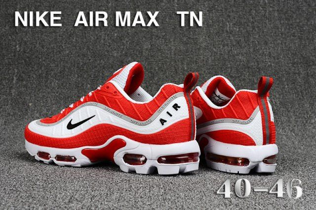 sale retailer 0d5d9 a5a12 Nike Air Max Tn KPU October Red White Black Sneakers Men's ...