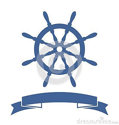 Ship Wheel Banner by Burlesck, via Dreamstime