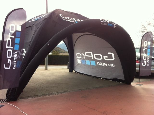 Pop Up branded event structure – visit http://www.ingeniousinflatables.com/en for more examples   #eventstructure #PopUp #brandawareness  #event #promotional #brandedstructure #marketing #brandedtent #promotionaltent #branded #marque