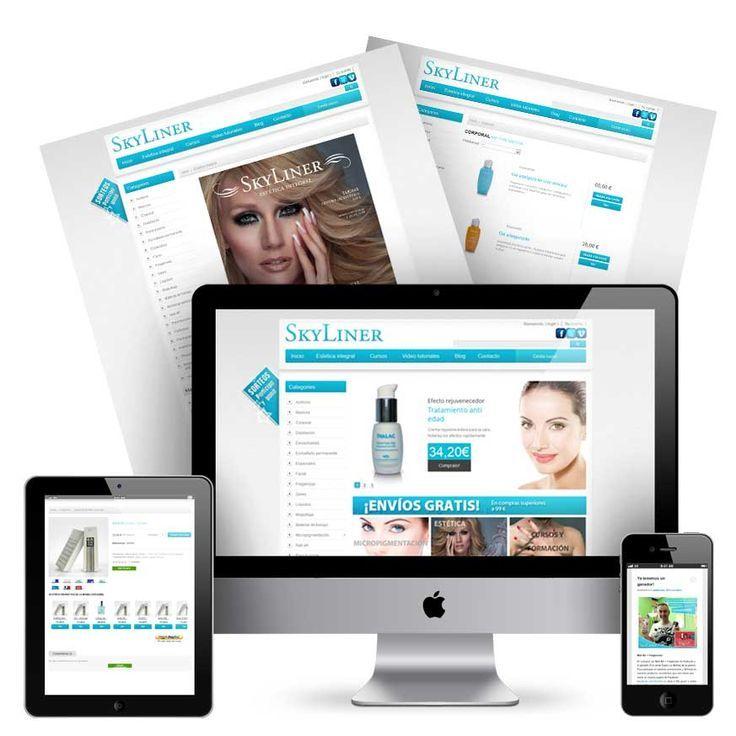 Tienda online de cosmeticos. Venta y distribución de cosmeticos. Diseño web y ecommerce